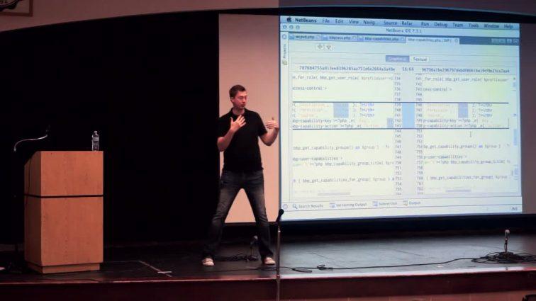 JJJ presenting