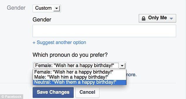 In February, Facebook introduced the ability for it's users to identify as any gender.