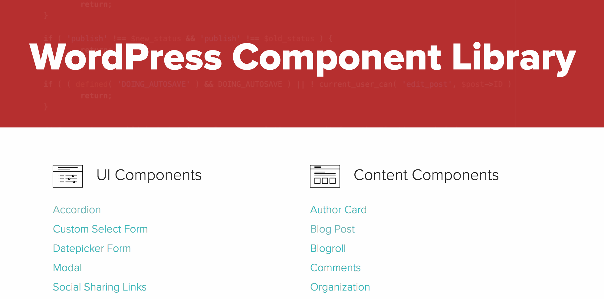Introducing the WordPress Component Library | 10up