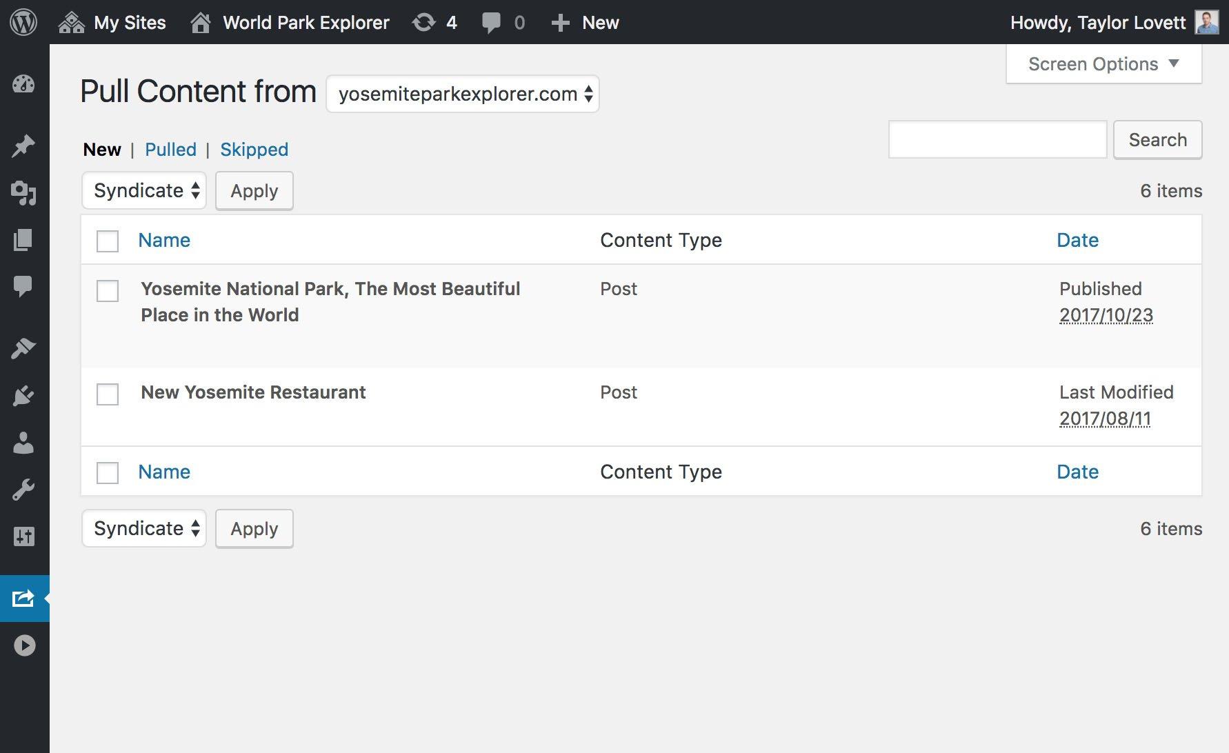 Pull posts across a WordPress network