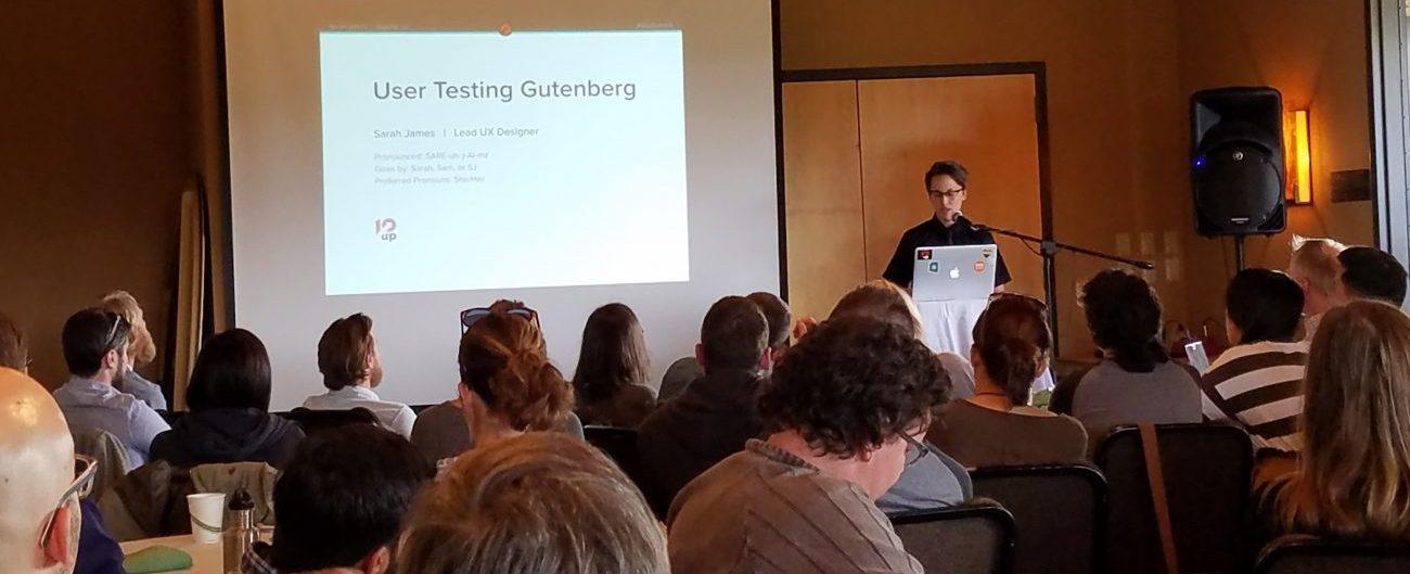 User testing Gutenberg