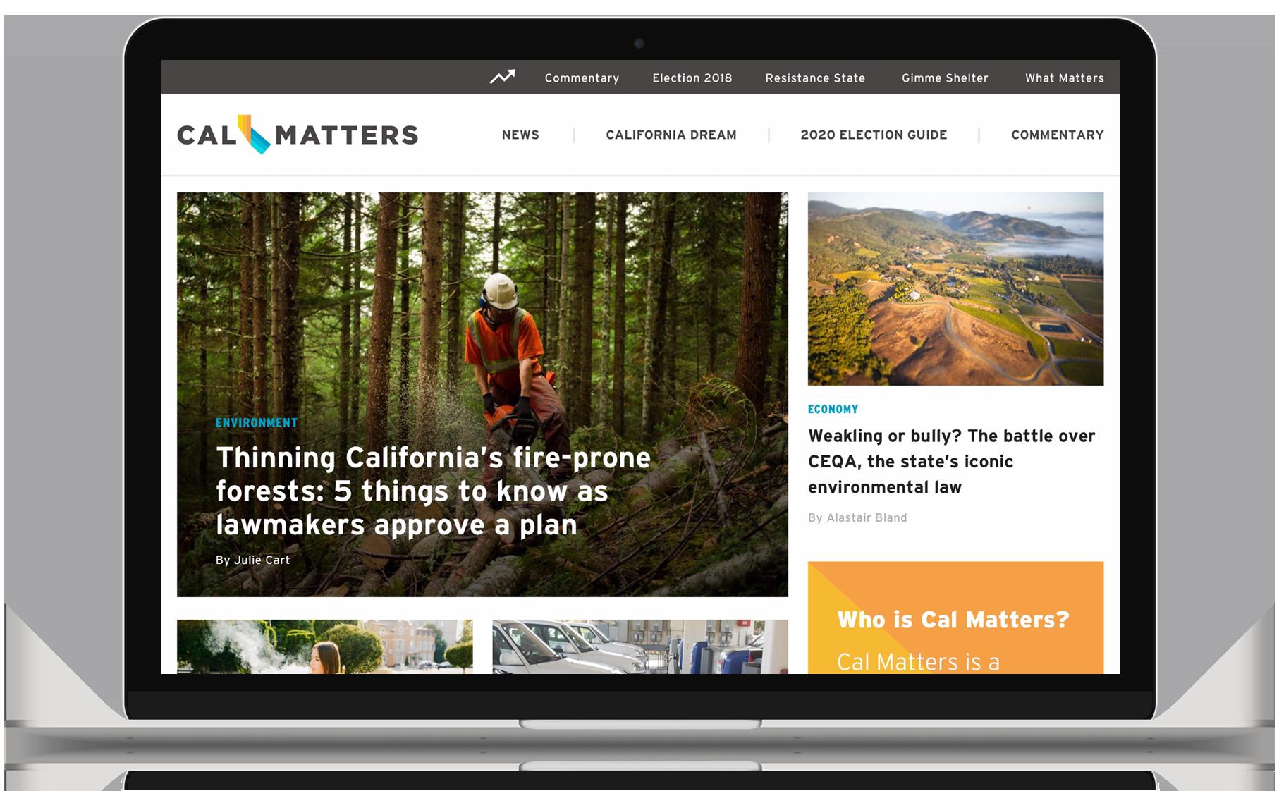 CALmatters Website