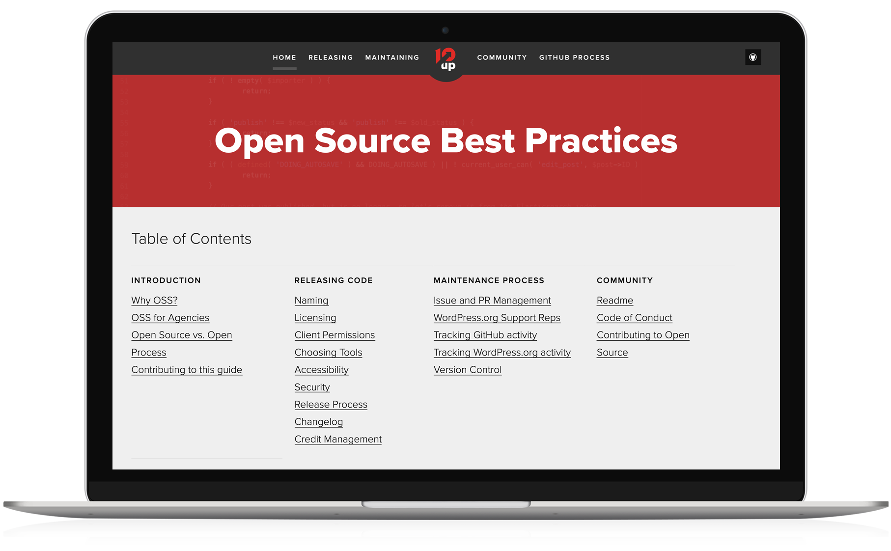 10up Open Source Best Practices GitHub Repo Home Page