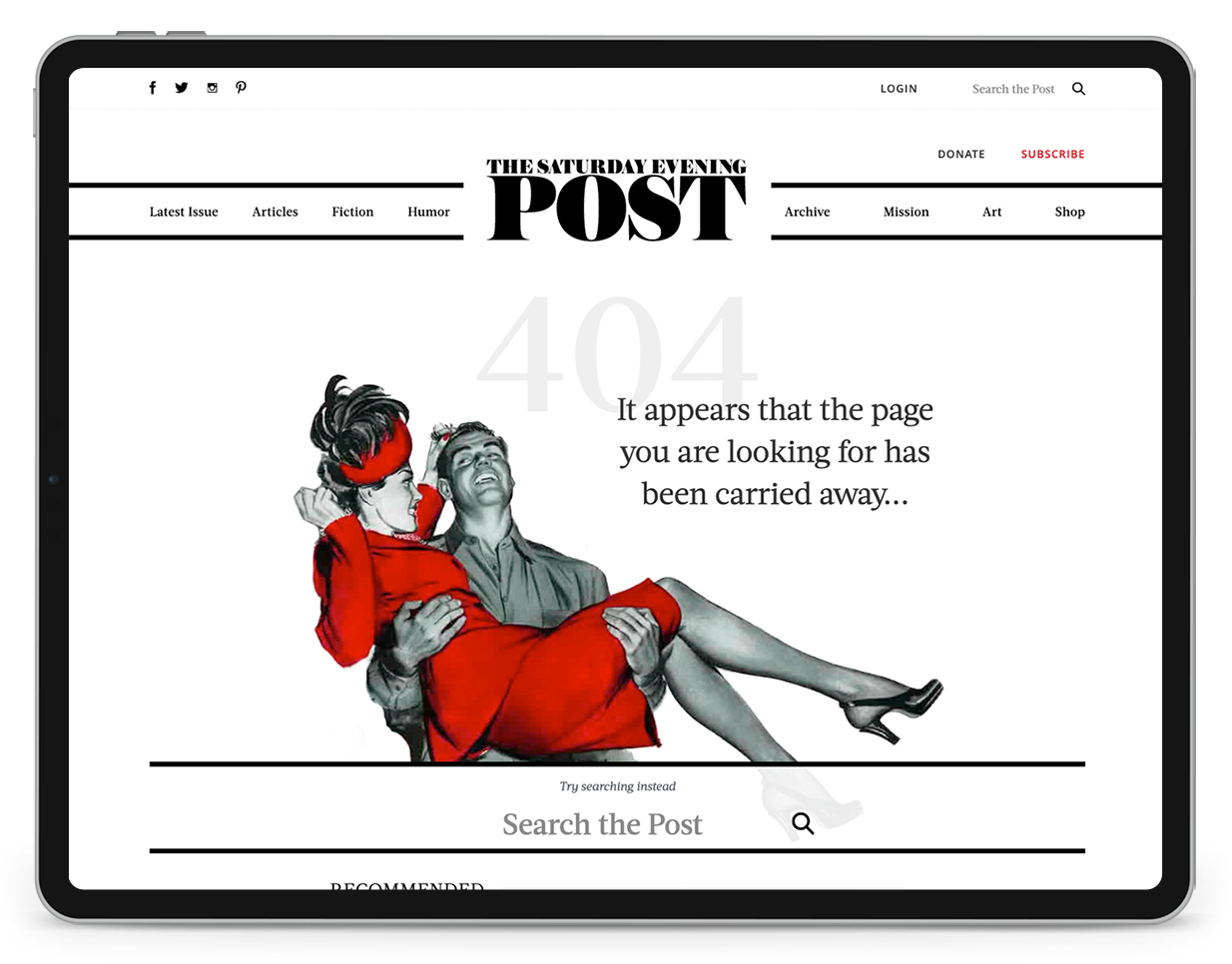 Saturday Evening Post 404 Page