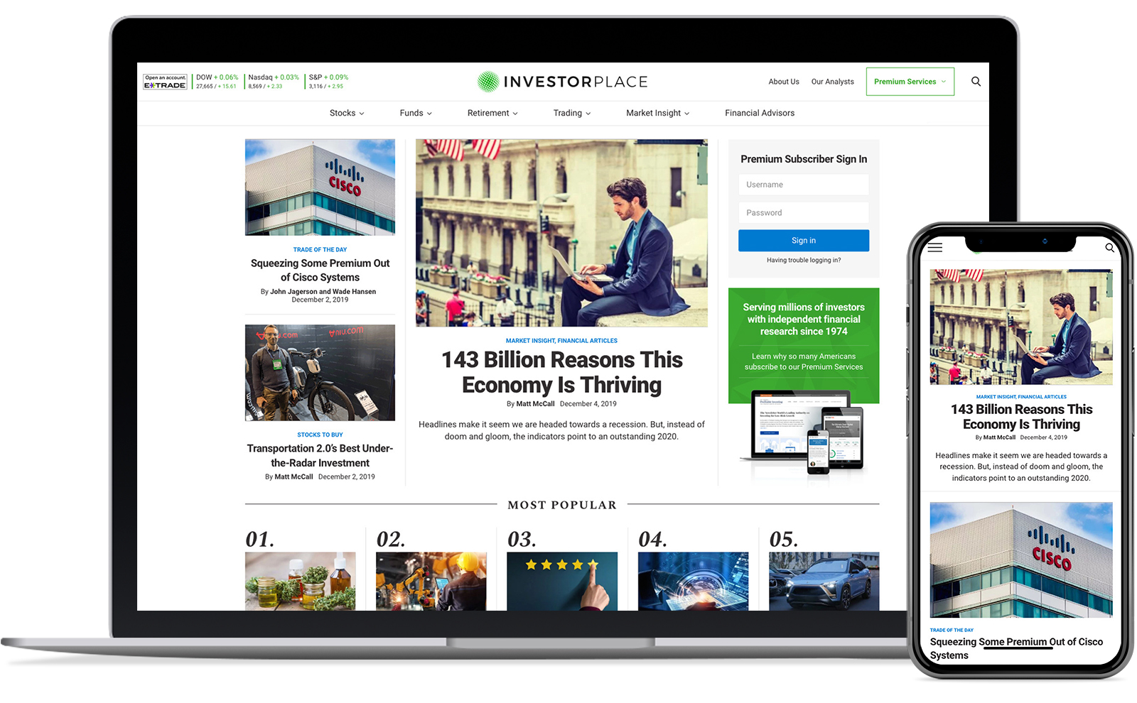 InvestorPlace Website Redesign