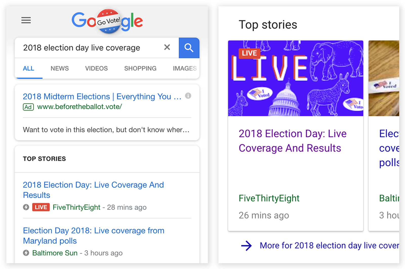 Live Event Coverage By FiveThirtyEight