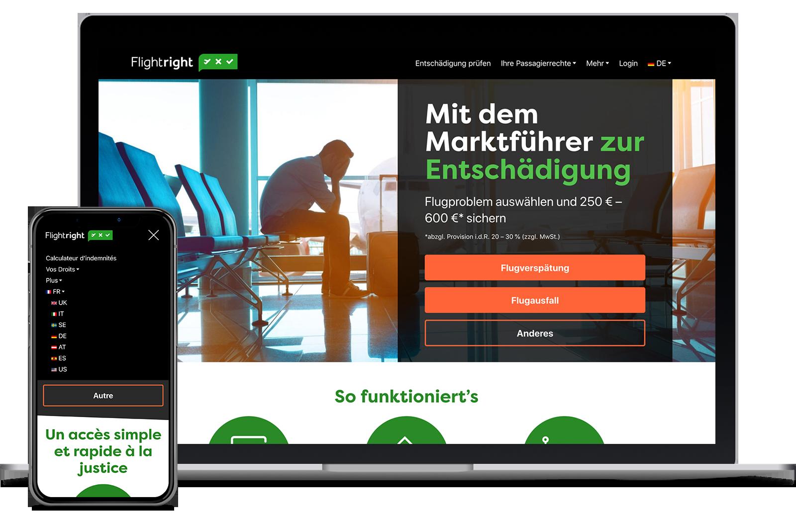 Flightright Multilingual Multisite Network