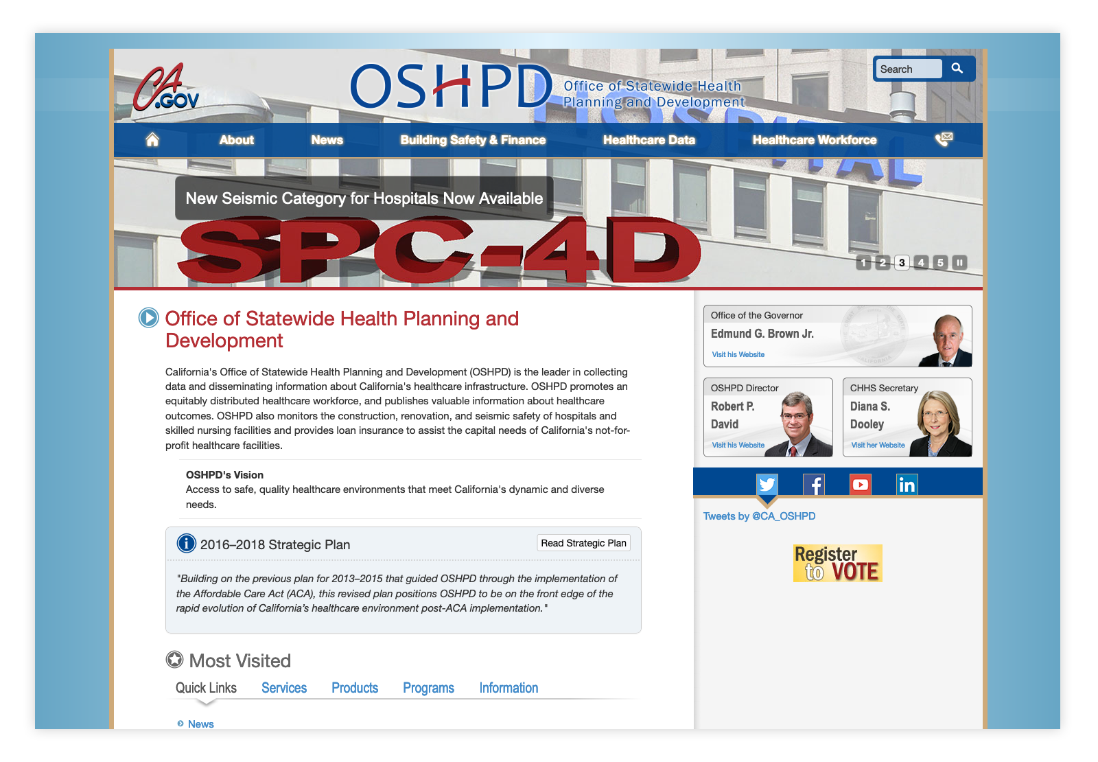 OSHPD.ca.gov Website Before Working With 10up