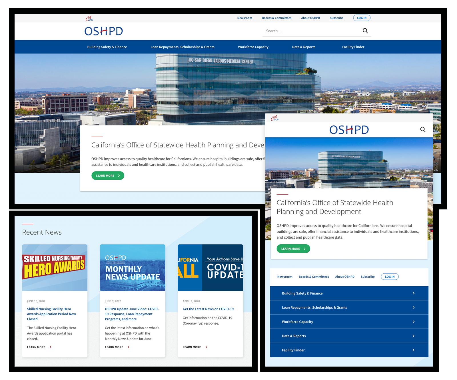 OSHPD.ca.gov Website Redesign