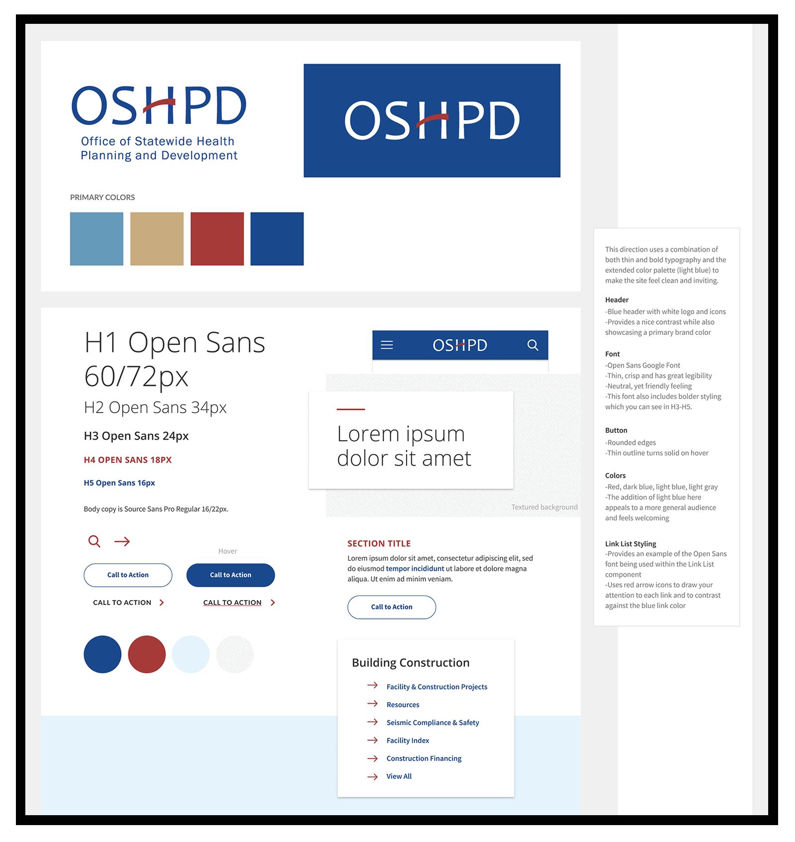 OSHPD.ca.gov Style Tile Example