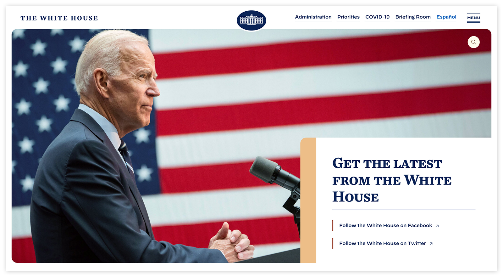 New White House Website Redesign