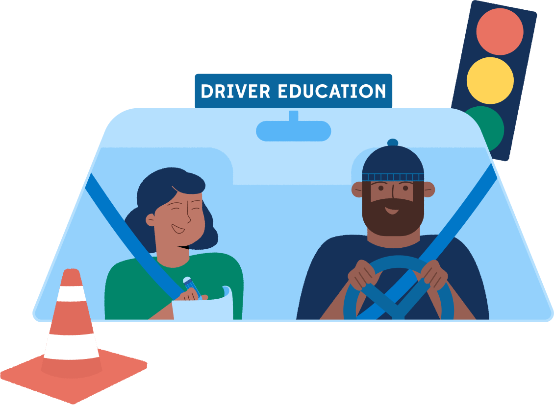 CA DMV Illustration Driver Education
