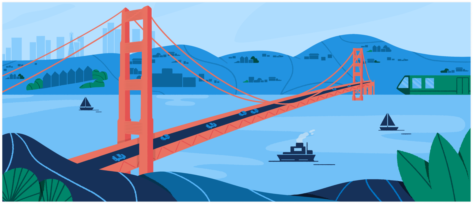 CA DMV Illustration Golden Gate Bridge