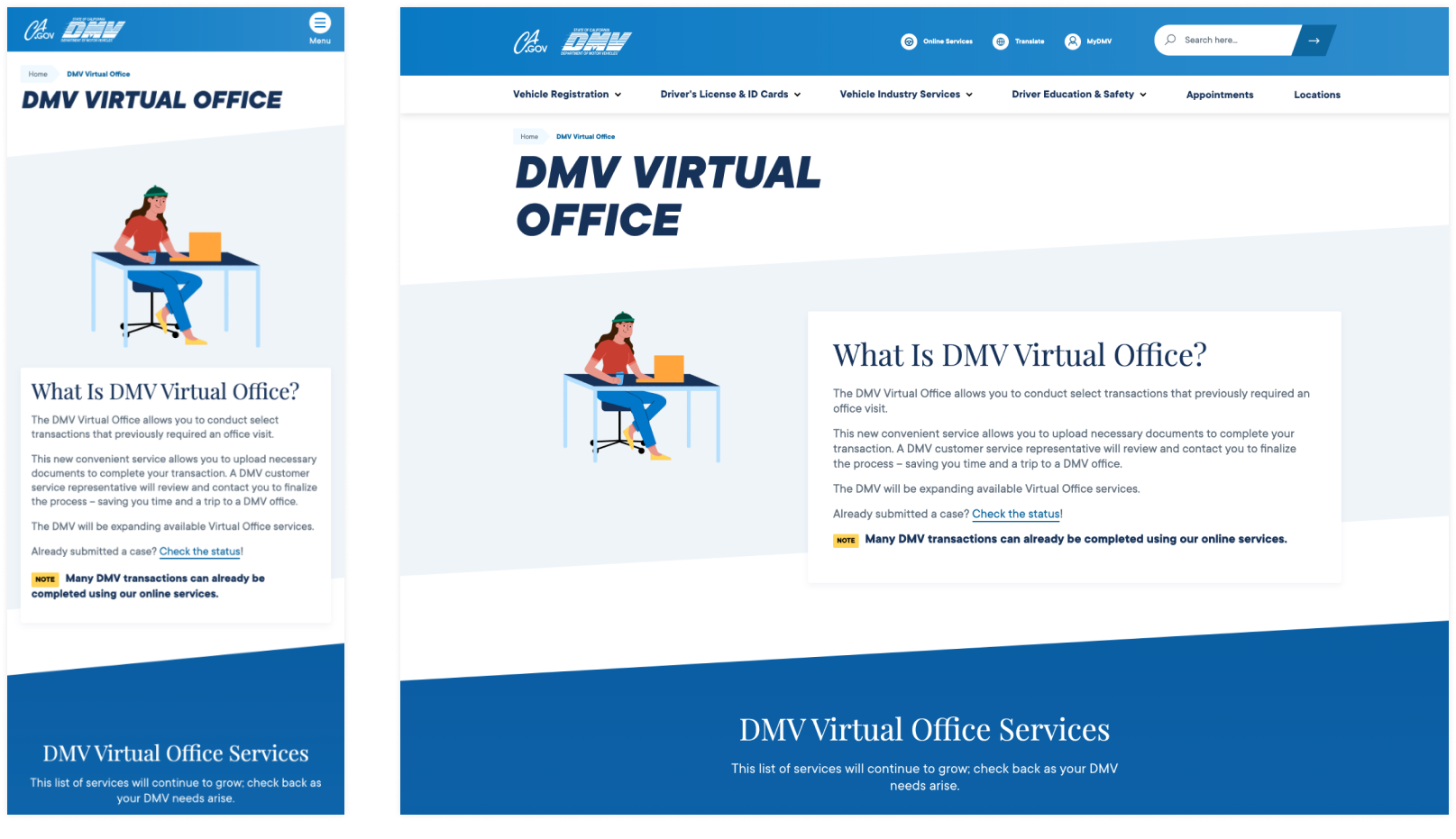 CA DMV Virtual Field Office Microsite