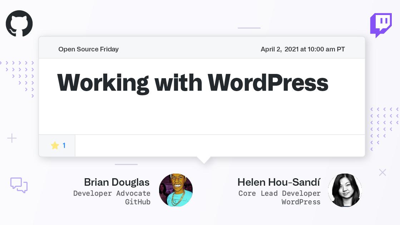 Working with WordPress GitHub Meetup