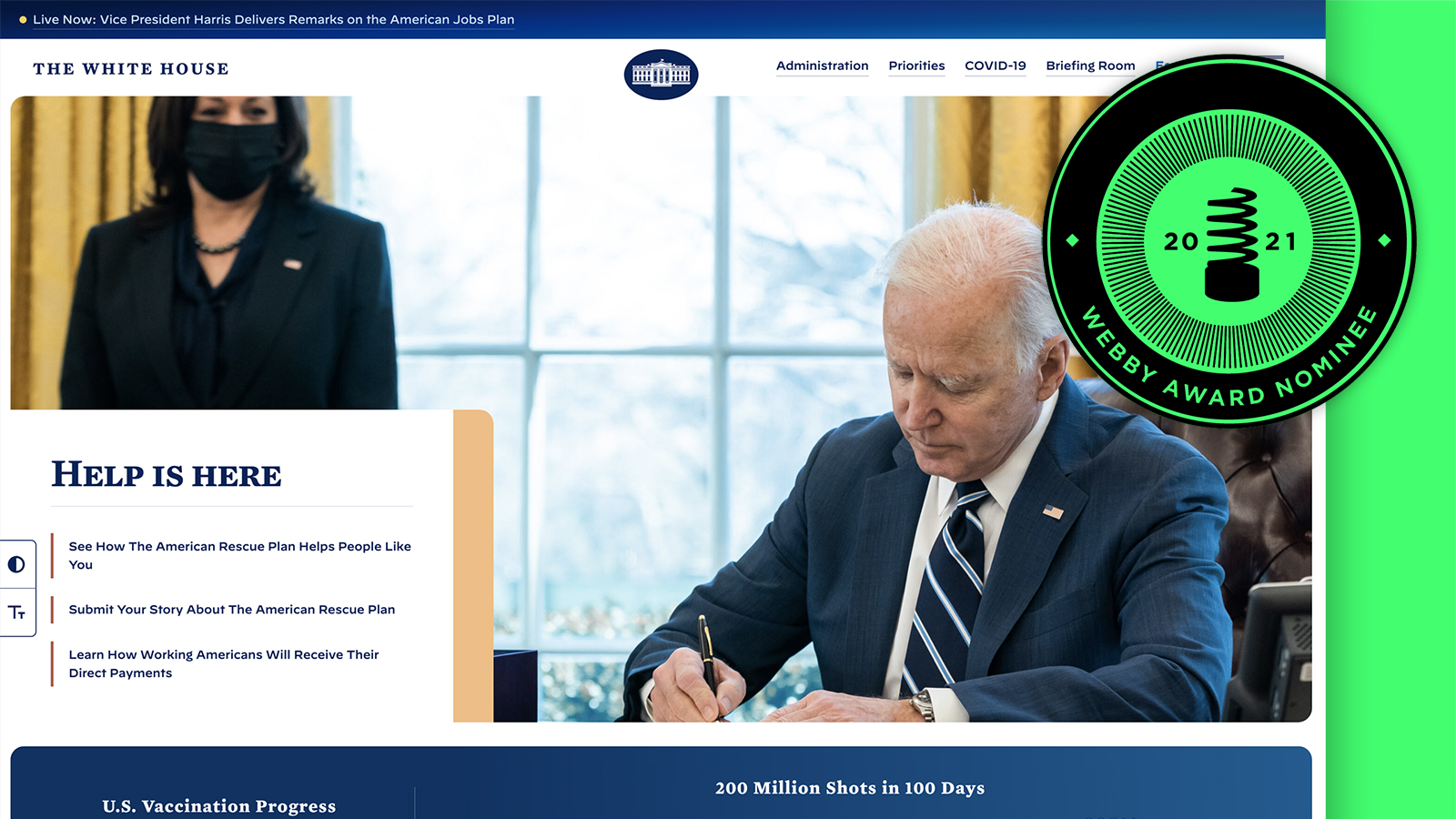 Webby Nominee: The White House
