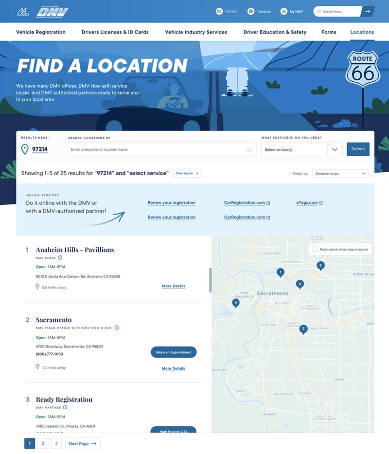 Government Website Redesign For CA DMV