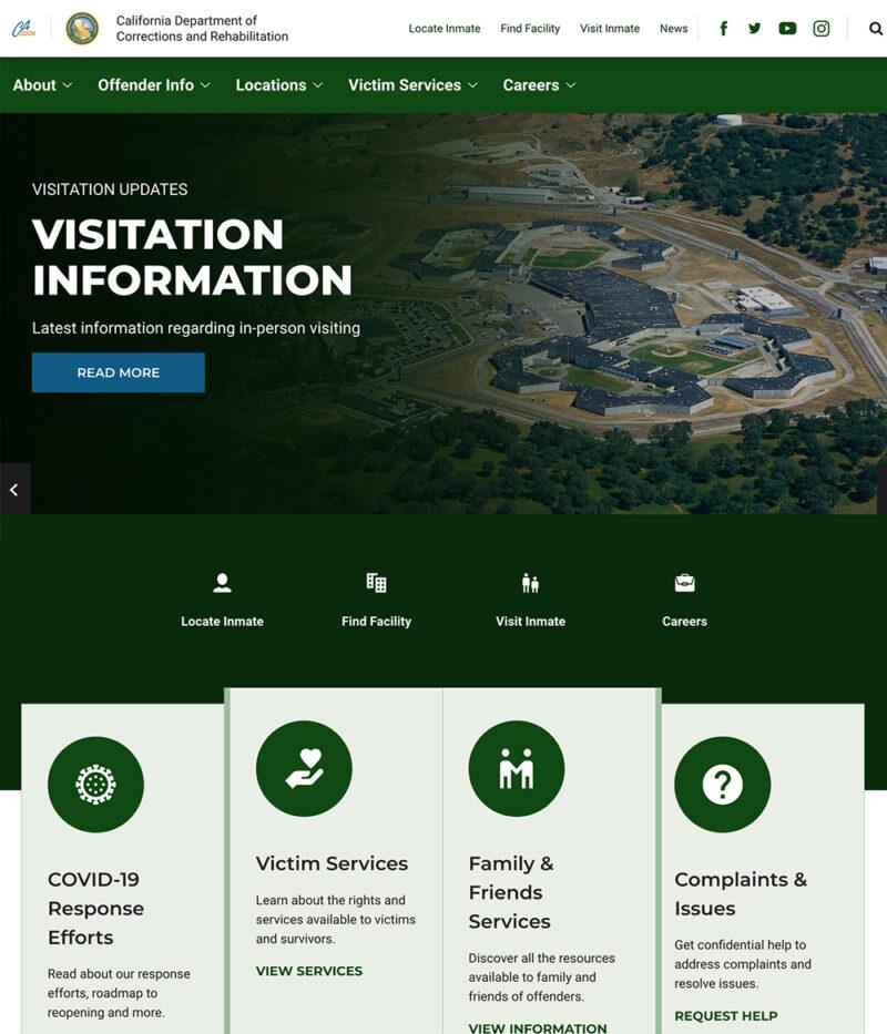Government Website Design For CDCR