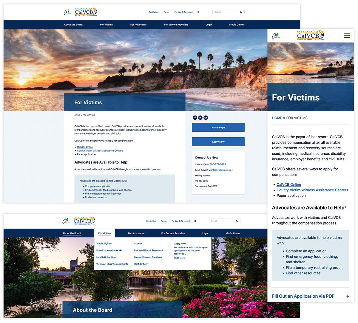 CalVCB Website Redesign