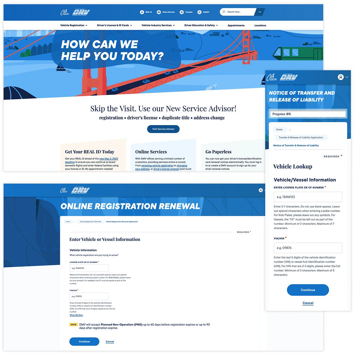 Visual Parity Between DMV Website And Applications