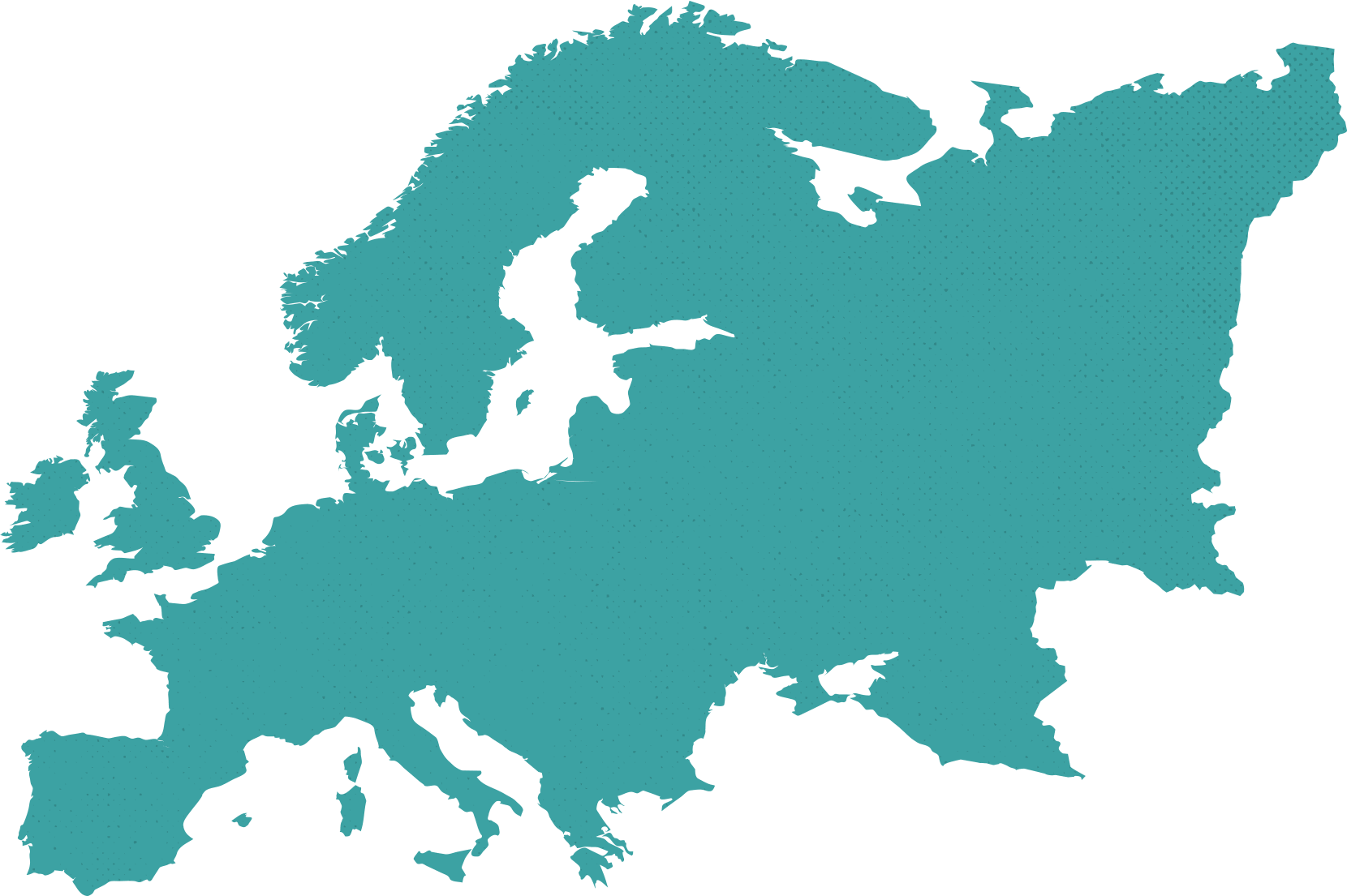 10up Europe map outline