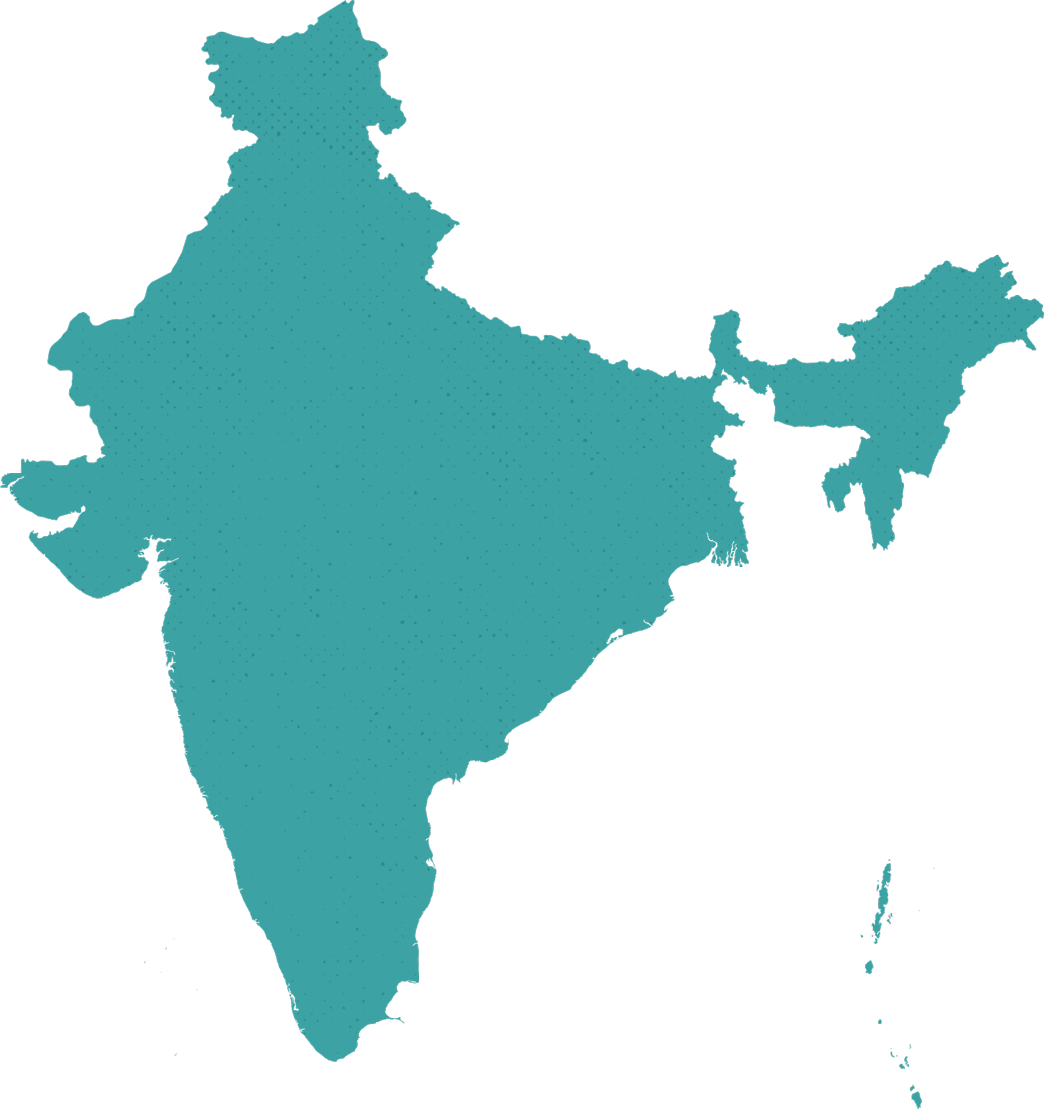 10up India map outline