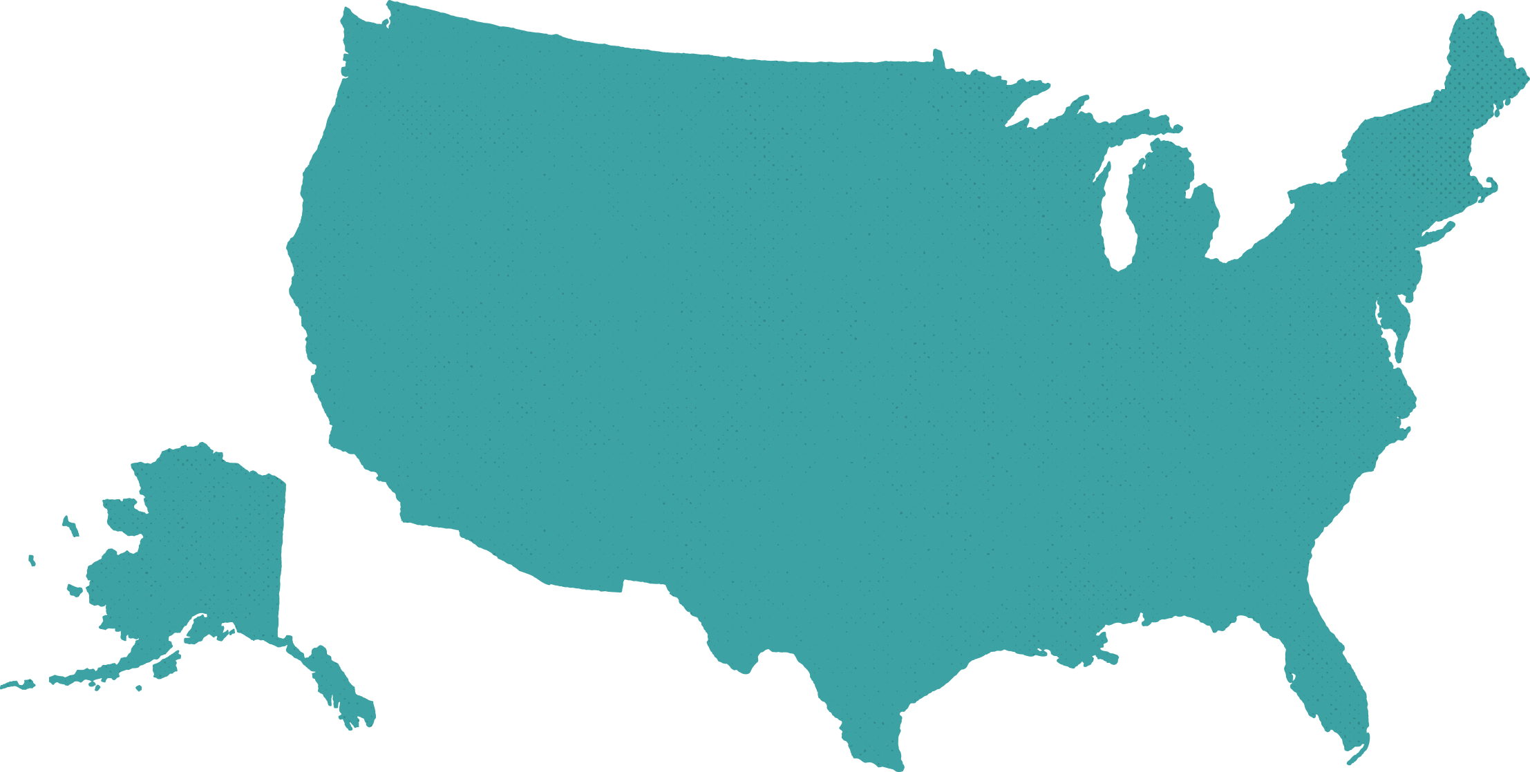 10up United States map outline